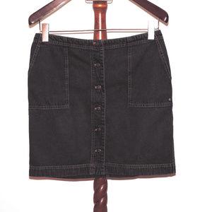 Lauren Jeans Co black denim skirt